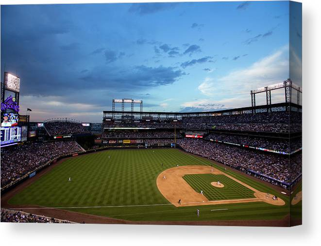 Relief Pitcher Canvas Print featuring the photograph Dee Gordon and Tommy Kahnle by Justin Edmonds