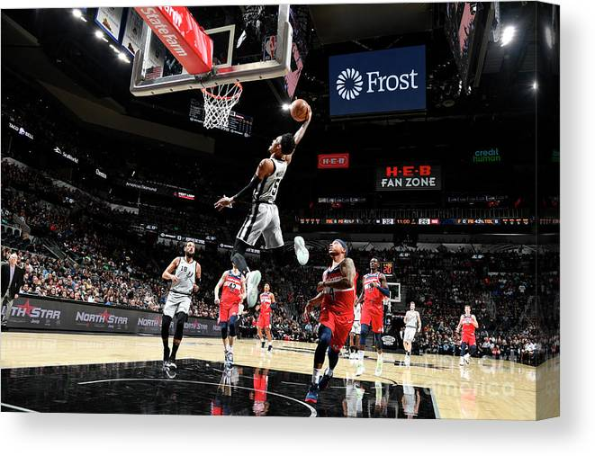 Nba Pro Basketball Canvas Print featuring the photograph Dejounte Murray by Logan Riely