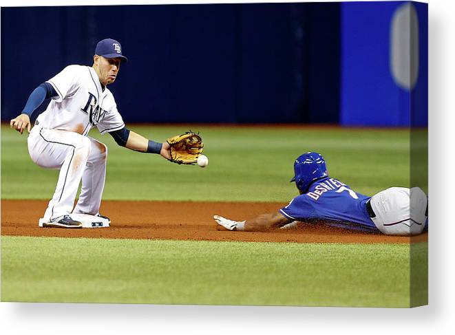 People Canvas Print featuring the photograph Delino Deshields by Brian Blanco