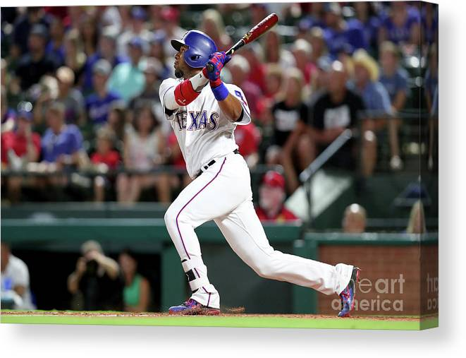 People Canvas Print featuring the photograph Delino Deshields by Tom Pennington