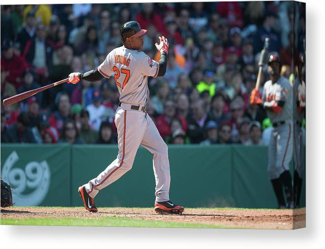 East Canvas Print featuring the photograph Delmon Young by Rob Tringali