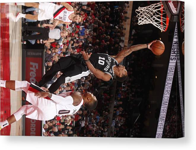 Nba Pro Basketball Canvas Print featuring the photograph Demar Derozan by Cameron Browne