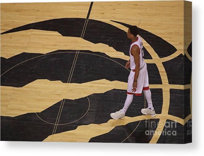 Playoffs Canvas Print featuring the photograph Demar Derozan by Dave Sandford