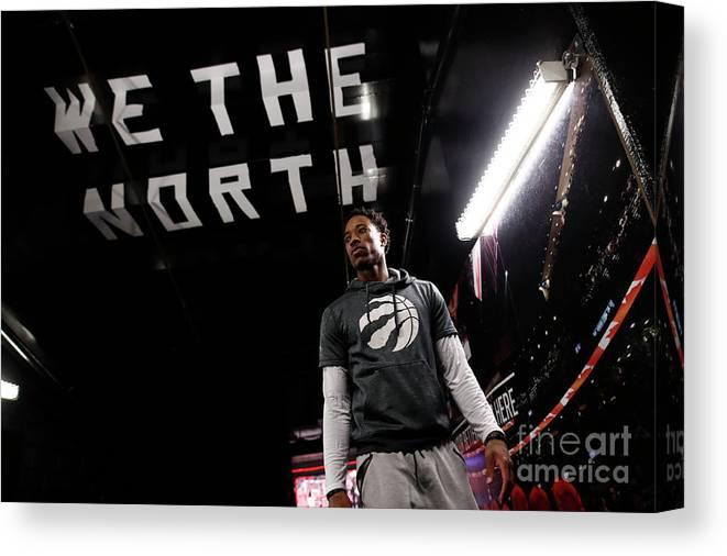 Playoffs Canvas Print featuring the photograph Demar Derozan by Mark Blinch