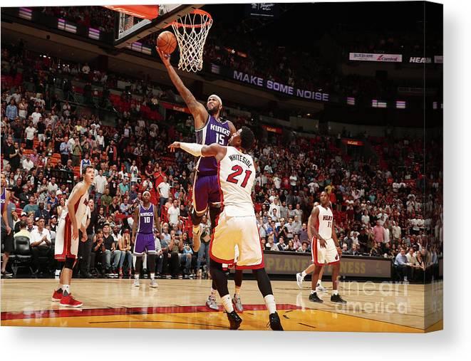 Nba Pro Basketball Canvas Print featuring the photograph Demarcus Cousins by Issac Baldizon