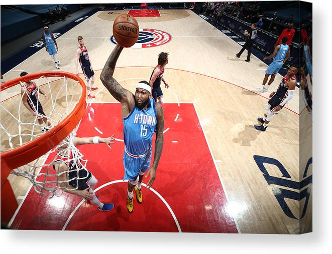 Nba Pro Basketball Canvas Print featuring the photograph Demarcus Cousins by Ned Dishman