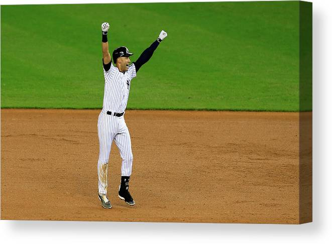 Ninth Inning Canvas Print featuring the photograph Derek Jeter by Alex Trautwig