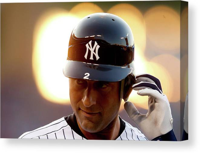 People Canvas Print featuring the photograph Derek Jeter by Jamie Squire