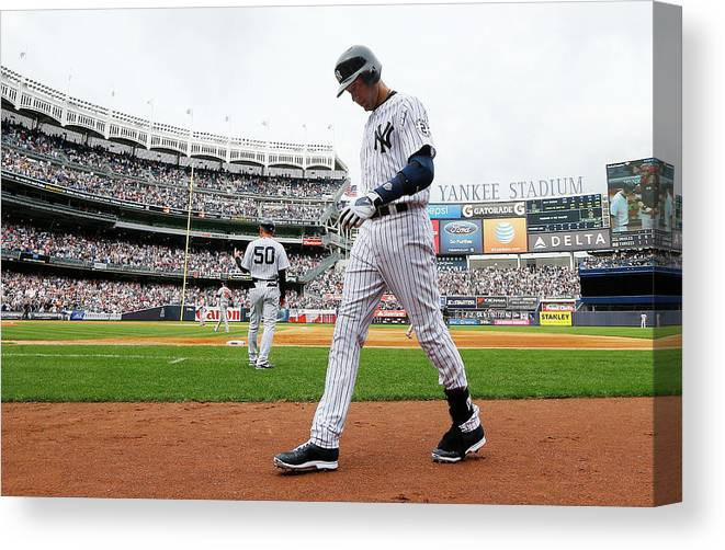 Derek Jeter Canvas Print featuring the photograph Derek Jeter by Jim Mcisaac