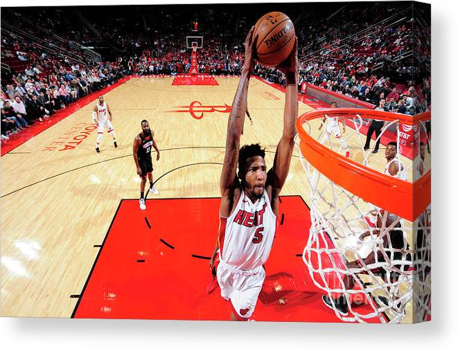 Nba Pro Basketball Canvas Print featuring the photograph Derrick Jones by Bill Baptist