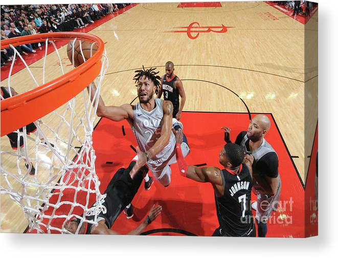 Playoffs Canvas Print featuring the photograph Derrick Rose by Bill Baptist