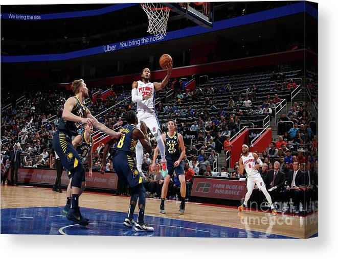 Nba Pro Basketball Canvas Print featuring the photograph Derrick Rose by Brian Sevald