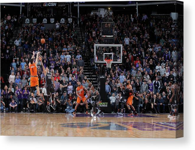 Nba Pro Basketball Canvas Print featuring the photograph Devin Booker by Rocky Widner