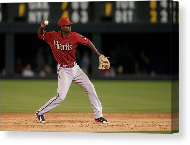 Ninth Inning Canvas Print featuring the photograph Didi Gregorius by Dustin Bradford
