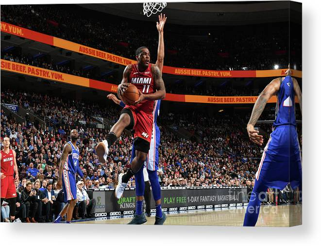 Nba Pro Basketball Canvas Print featuring the photograph Dion Waiters by Jesse D. Garrabrant