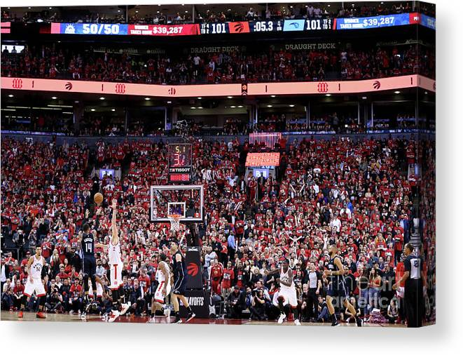 Playoffs Canvas Print featuring the photograph D.j. Augustin by David Sherman