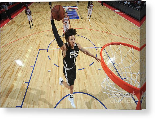 Nba Pro Basketball Canvas Print featuring the photograph D.j. Wilson by Garrett Ellwood