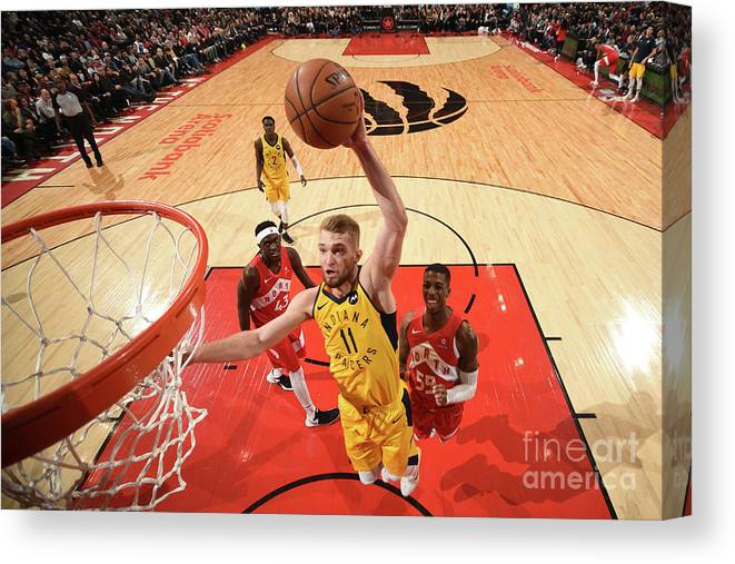 Nba Pro Basketball Canvas Print featuring the photograph Domantas Sabonis by Ron Turenne