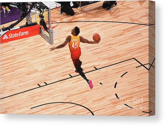 Event Canvas Print featuring the photograph Donovan Mitchell by Noah Graham