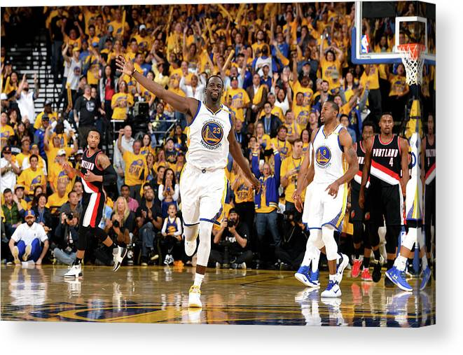 Playoffs Canvas Print featuring the photograph Draymond Green by Garrett Ellwood