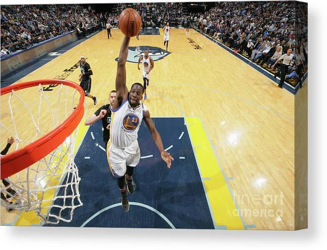 Nba Pro Basketball Canvas Print featuring the photograph Draymond Green by Joe Murphy