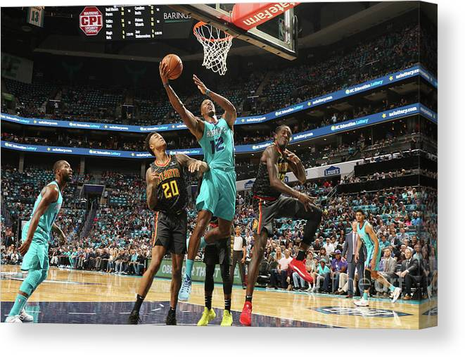 Nba Pro Basketball Canvas Print featuring the photograph Dwight Howard by Brock Williams-smith