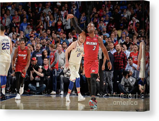 Playoffs Canvas Print featuring the photograph Dwyane Wade by David Dow