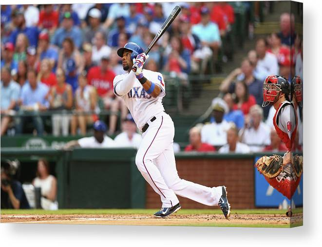 People Canvas Print featuring the photograph Elvis Andrus by Ronald Martinez