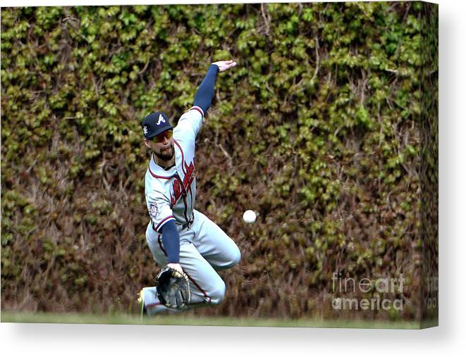People Canvas Print featuring the photograph Ender Inciarte and Javier Baez by David Banks