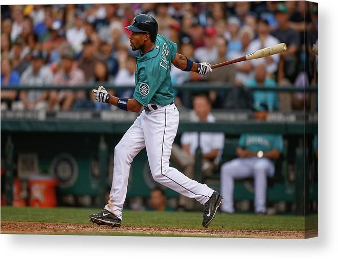 American League Baseball Canvas Print featuring the photograph Endy Chavez by Otto Greule Jr