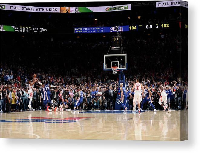 Nba Pro Basketball Canvas Print featuring the photograph Eric Gordon by David Dow