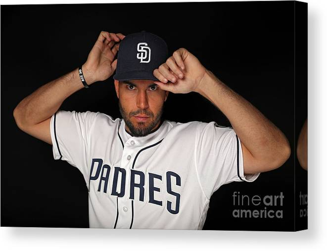 Media Day Canvas Print featuring the photograph Eric Hosmer by Patrick Smith
