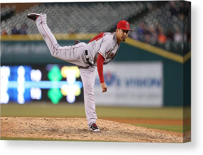 Ninth Inning Canvas Print featuring the photograph Ernesto Frieri by Leon Halip