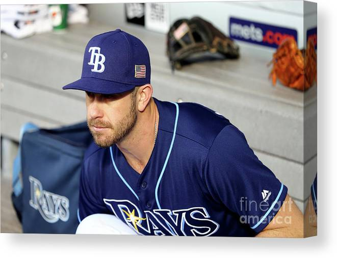 People Canvas Print featuring the photograph Evan Longoria by Alex Trautwig