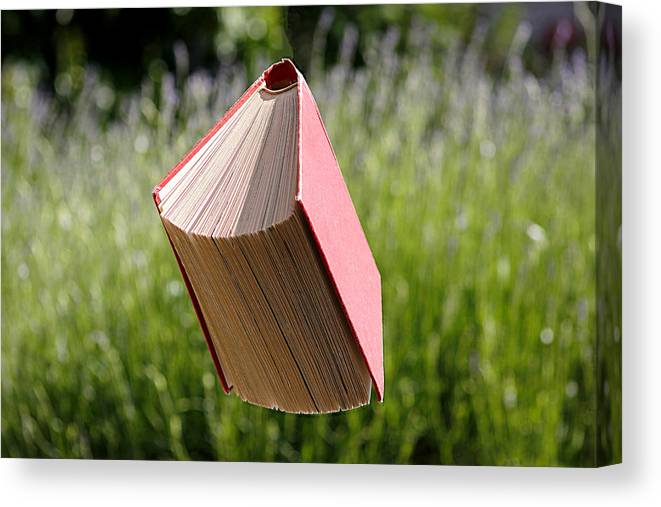 Environmental Conservation Canvas Print featuring the photograph Floating Book by Gregoria Gregoriou Crowe fine art and creative photography.