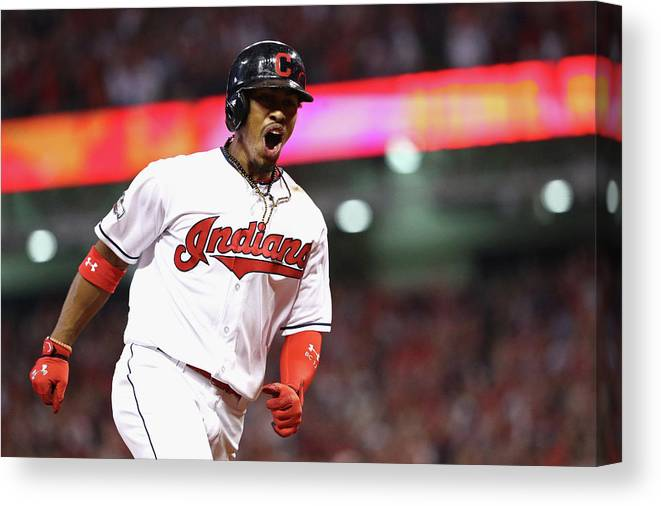 Three Quarter Length Canvas Print featuring the photograph Francisco Lindor by Maddie Meyer