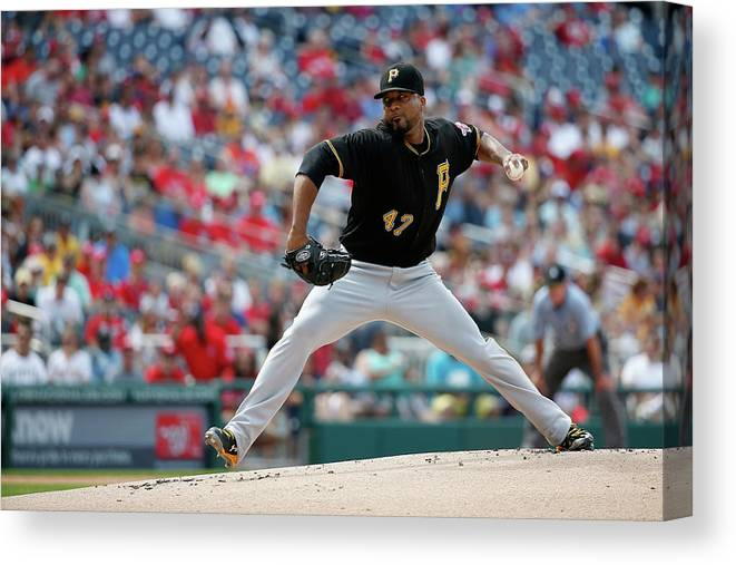 People Canvas Print featuring the photograph Francisco Liriano by Rob Carr