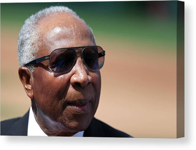 People Canvas Print featuring the photograph Frank Robinson by Patrick Smith