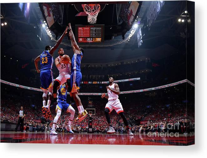Playoffs Canvas Print featuring the photograph Fred Vanvleet by Jesse D. Garrabrant