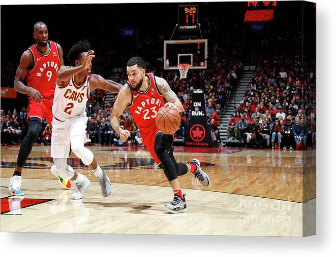Nba Pro Basketball Canvas Print featuring the photograph Fred Vanvleet by Mark Blinch