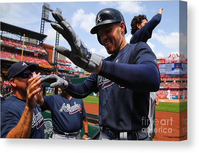 People Canvas Print featuring the photograph Freddie Freeman by Dilip Vishwanat