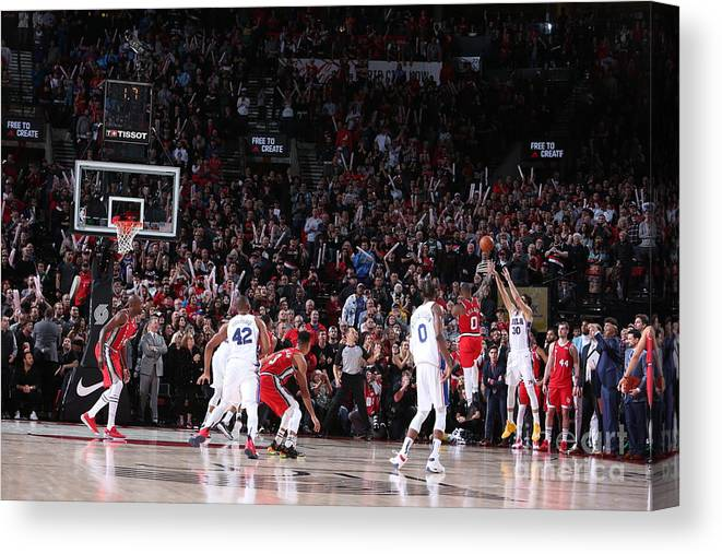 Nba Pro Basketball Canvas Print featuring the photograph Furkan Korkmaz by Sam Forencich