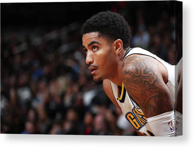 Nba Pro Basketball Canvas Print featuring the photograph Gary Harris by Nathaniel S. Butler