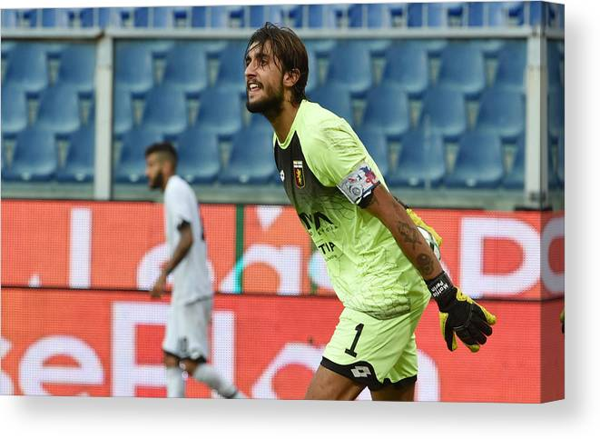 Three Quarter Length Canvas Print featuring the photograph Genoa CFC v AC Cesena - TIM Cup by Paolo Rattini