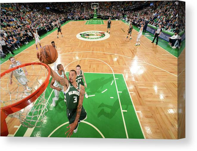 Playoffs Canvas Print featuring the photograph George Hill by Brian Babineau