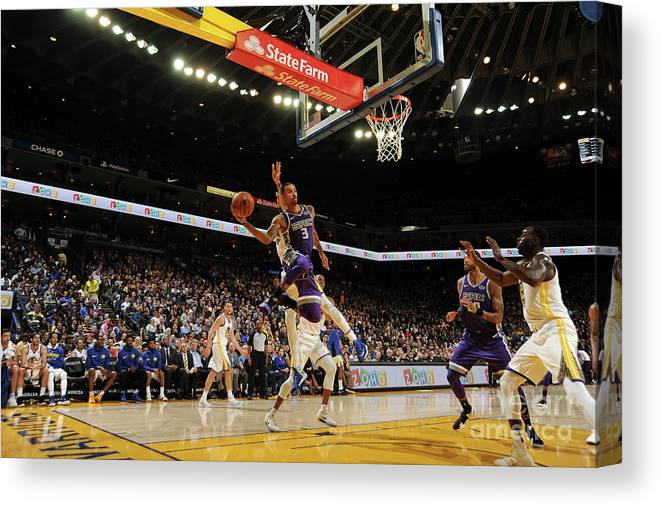 Nba Pro Basketball Canvas Print featuring the photograph George Hill by Noah Graham