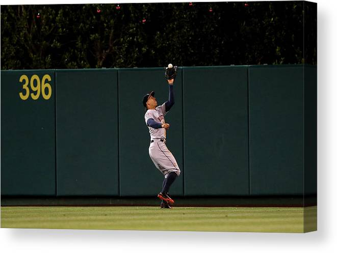People Canvas Print featuring the photograph George Springer by Stephen Dunn