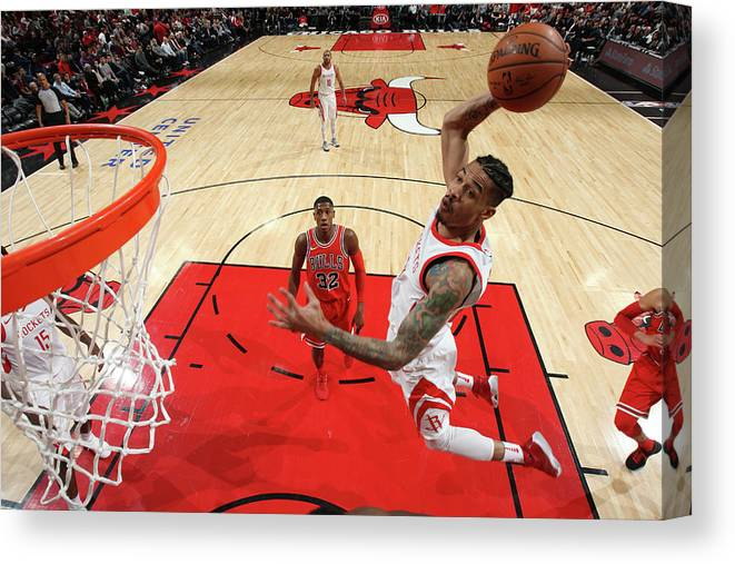 Nba Pro Basketball Canvas Print featuring the photograph Gerald Green by Gary Dineen