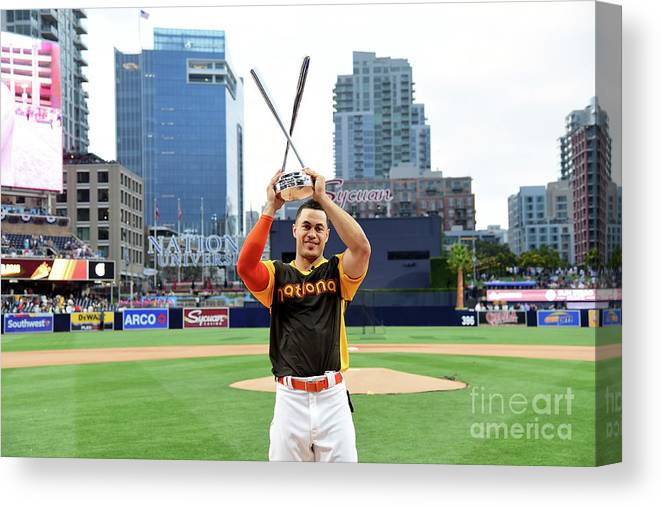 Three Quarter Length Canvas Print featuring the photograph Giancarlo Stanton by Harry How