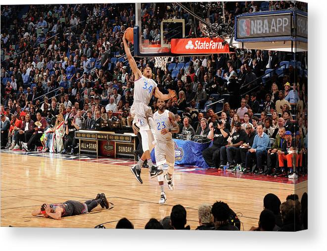 Event Canvas Print featuring the photograph Giannis Antetokounmpo by Andrew D. Bernstein